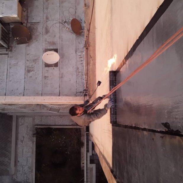 ایزوگام کاری نما با طناب